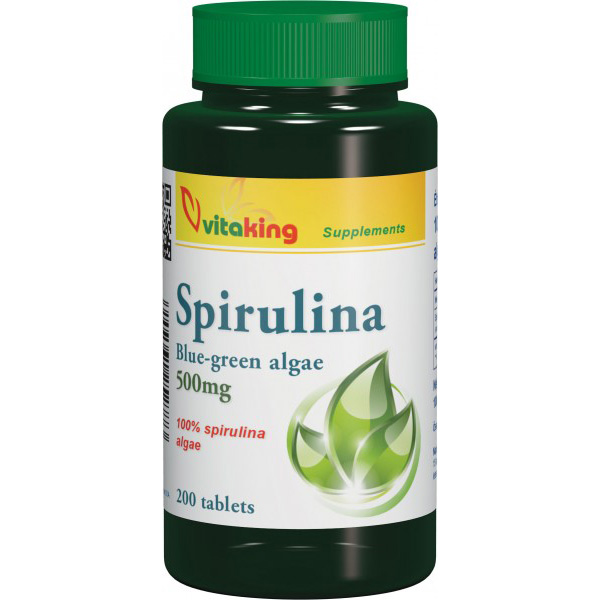 Spirulina 500mg 200tablets Vitaking - Algák