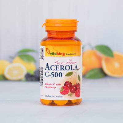Vitaking Acerola C-500 40db - C-vitaminok