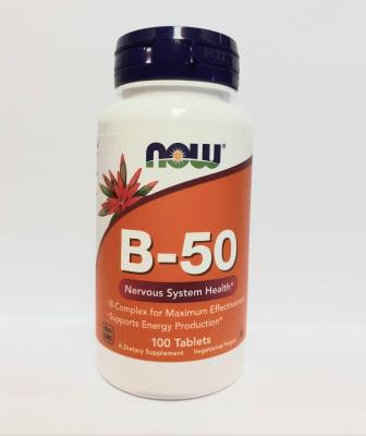 NOW B-50 komplex vitamin 100db - Vitaminok
